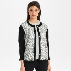 Karl lagerfeld lace bow pearl femme cardigan